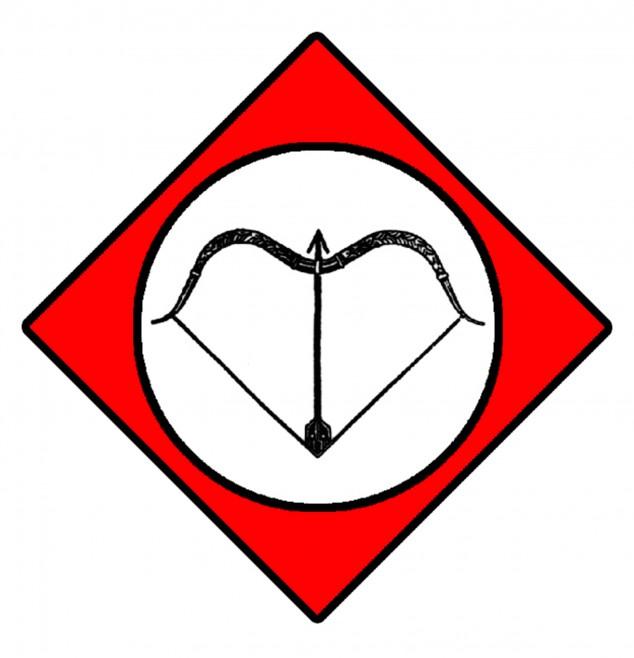 arco raido simbolo tradizione rombo