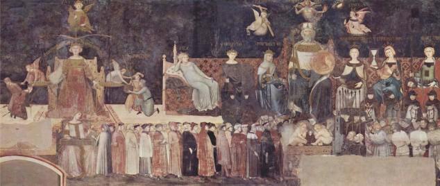 Allegoria del Buon Governo (Ambrogio Lorenzetti, Palazzo Pubblico di Siena, 1338-1389)