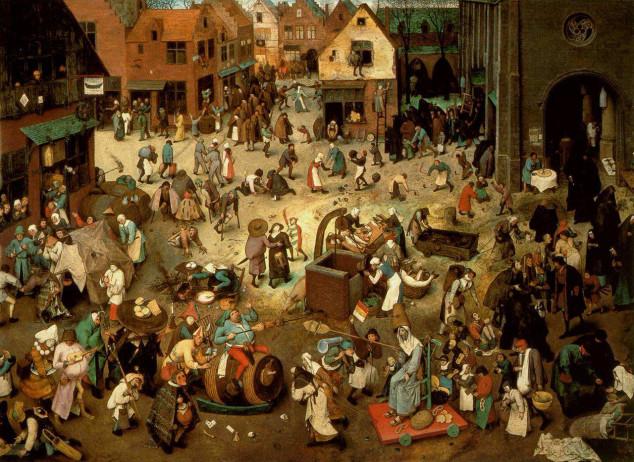 pieter-bruegel-il-vecchio-lotta-tra-carnevale-e-quaresima-1559-olio-su-tavola-118c3971645-cm-vienna-kunsthistorisches-museum