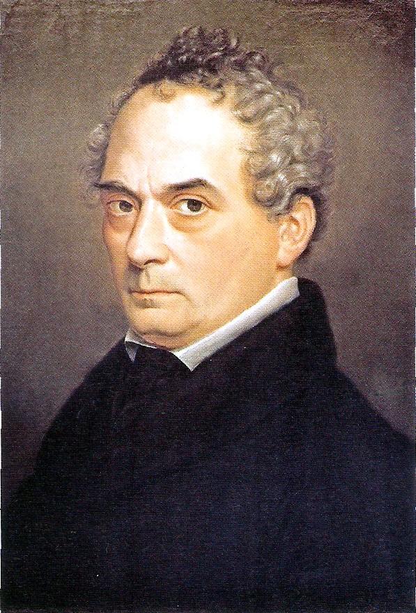 Clemens Brentano ritratto da Emilie Linder nel 1833