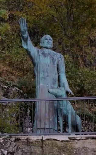 San Giuseppe da Vercelli e il lupo, santuario di Montevergine