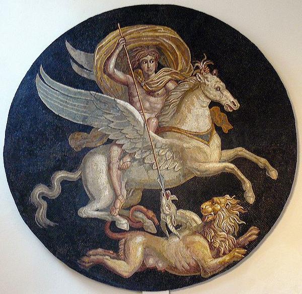 mito di bellerofonte cavallo pegaso uccide la chimera tradizione eroismo guerra santa