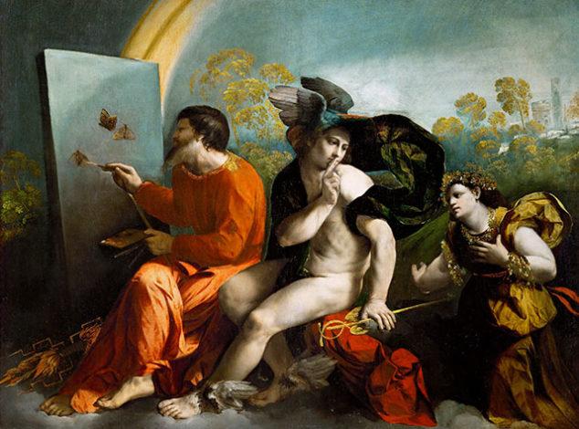 dosso-dossi-giove-pittore-di-farfalle-mercurio-e-la-virtu-1523-1524-castello-di-wawel-cracovia-silenzio-parola-voce