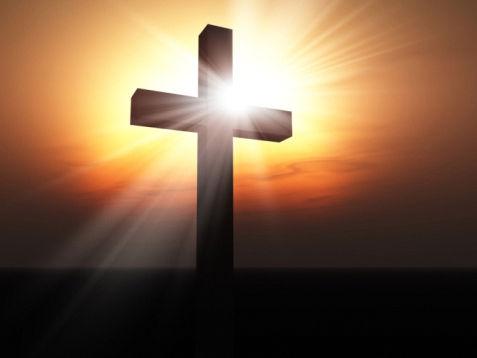 The shining, holy cross