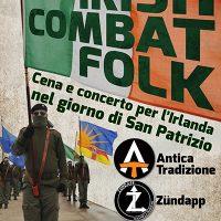 EVENTO | IRISH COMBAT FOLK. Cena e concerto per l'Irlanda